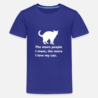 Not A People Person Cat people - Teenage Premium T-Shirt