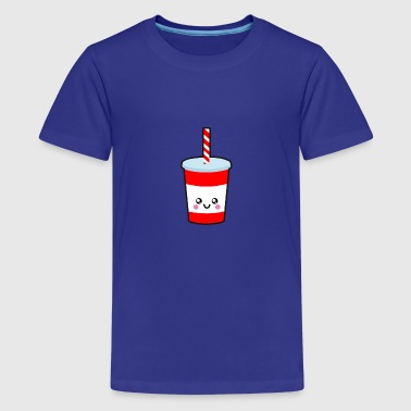 Drinking cup with straw - Teenage Premium T-Shirt