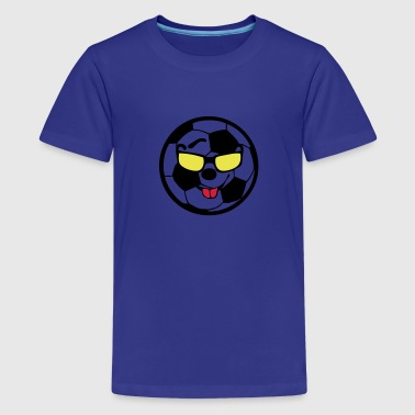 ballon football soccer smiley1 - T-shirt Premium Ado