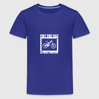 Biking is fun Gift idea - Teenage Premium T-Shirt
