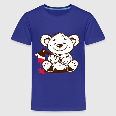 Ax Bear with a bloody axe - Teenage Premium T-Shirt