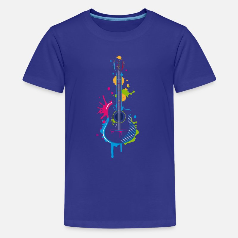 Guitar T-Shirts - Graffiti guitar - Teenage Premium T-Shirt royal blue