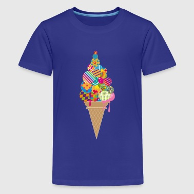 An ice cream cone - Teenage Premium T-Shirt