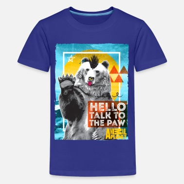Discovery Channel Animal Planet Polar Bear Punk Talk To The Paw - Teenage Premium T-Shirt