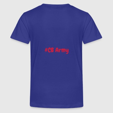 CB Gaming Blue with Red text - Teenage Premium T-Shirt