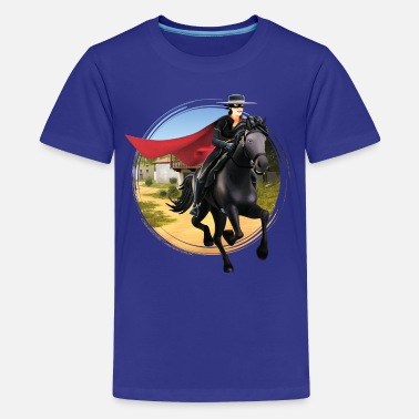 Zorro The Chronicles Ritt Auf Pferd Tornado - Teenager Premium T-Shirt
