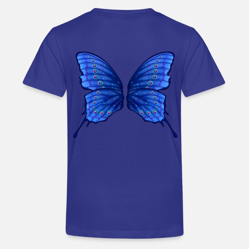 Blau T-Shirts - Butterfly Fairy Wings - Teenager Premium T-Shirt Königsblau