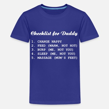 Checkliste Checklist for Daddy - Teenager Premium T-Shirt