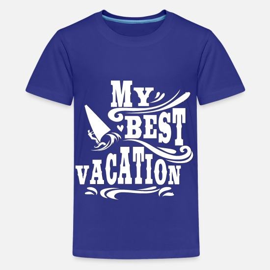 Cool T-Shirts - Vacation and Surfing - Vacation and Surfing - Teenage Premium T-Shirt royal blue