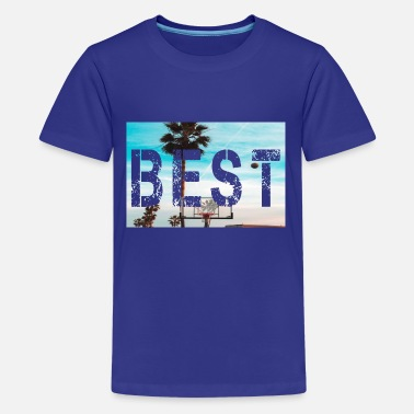 Best letter with landscape background - Teenage Premium T-Shirt