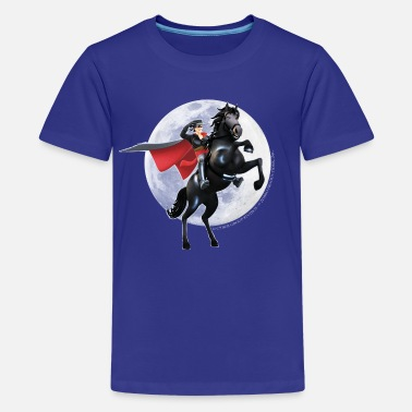 Officialbrands Zorro The Chronicles Horse Tornado Full Moon - Teenage Premium T-Shirt