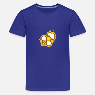 Cute funny cook bee - hobby cook - gift - Teenage Premium T-Shirt