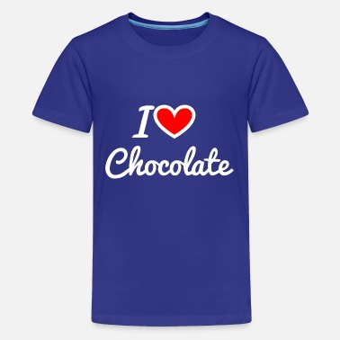 I love chocolate - Teenage Premium T-Shirt