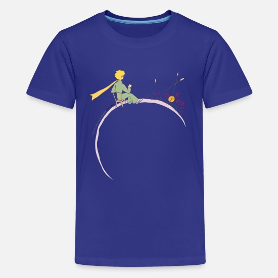 Drawing T-Shirts - The Little Prince Looks At Sunset - Teenage Premium T-Shirt royal blue