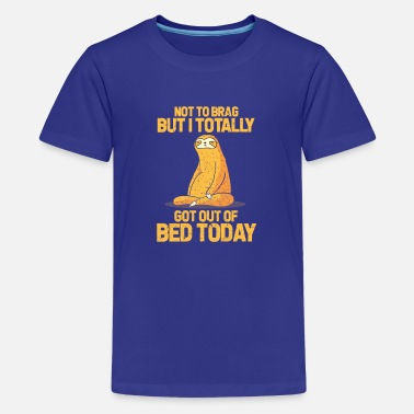 Bed sloth - Teenage Premium T-Shirt