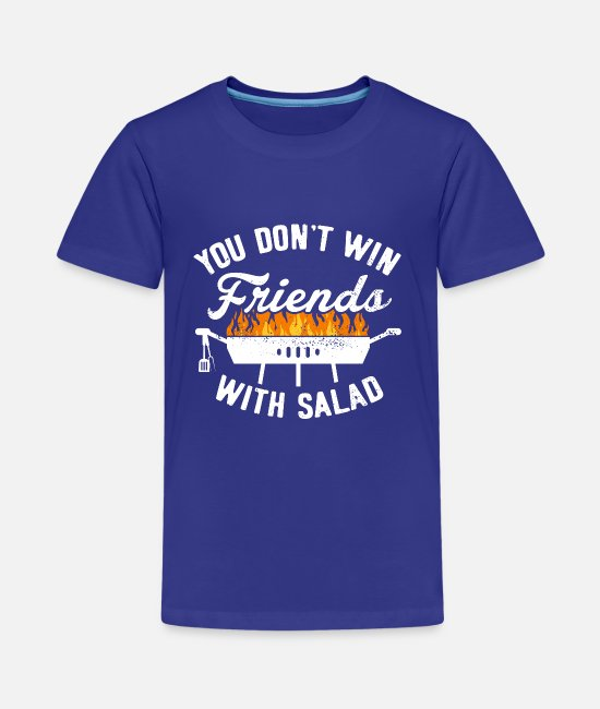 Bbq T-Shirts - BBQ Barbecue Griller Barbecue Grill Season salad - Teenage Premium T-Shirt royal blue