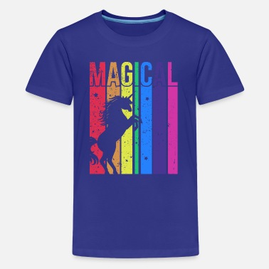 Magical Unicorn Rainbow Shirt - Teenage Premium T-Shirt