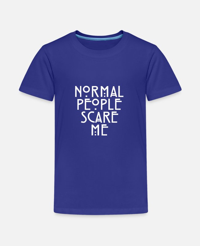 Let Down T-Shirts - American Horror Story Normal People Scare Me Tate - Teenage Premium T-Shirt royal blue