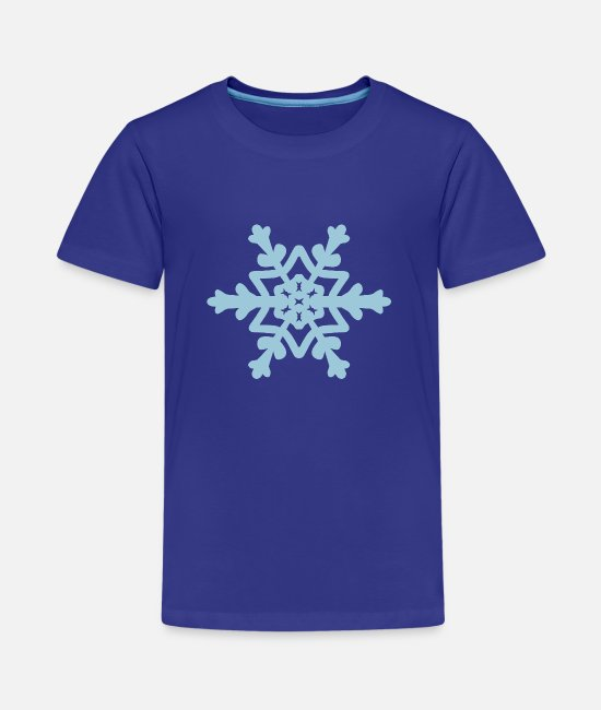 December T-Shirts - Snowflake / Snowcrystal winter design - Teenage Premium T-Shirt royal blue