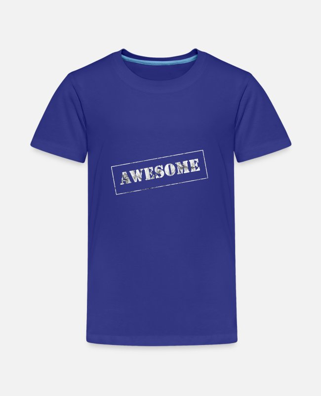 Superstar T-Shirts - Awesome - Teenage Premium T-Shirt royal blue
