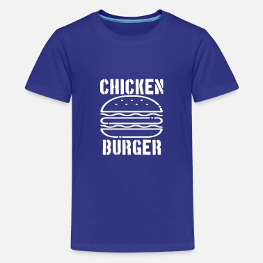 Chicken burger gift idea - Teenage Premium T-Shirt