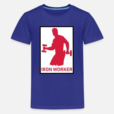 Iron Worker II - FITNESS - Teenager Premium T-Shirt