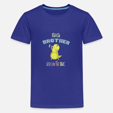 Big Brother Soon to be Baby Announcement DinoDab - Teenage Premium T-Shirt