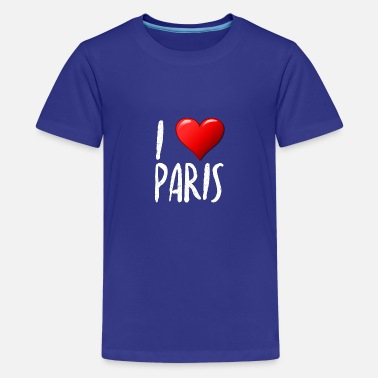 I Love Paris - T-shirt premium Ado
