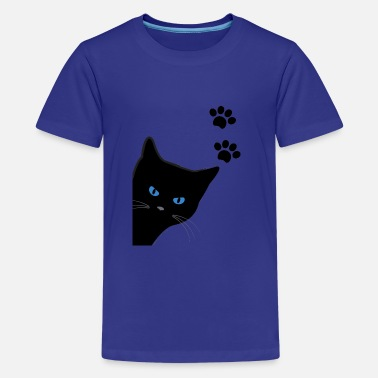 kitty with blue eyes - Teenage Premium T-Shirt
