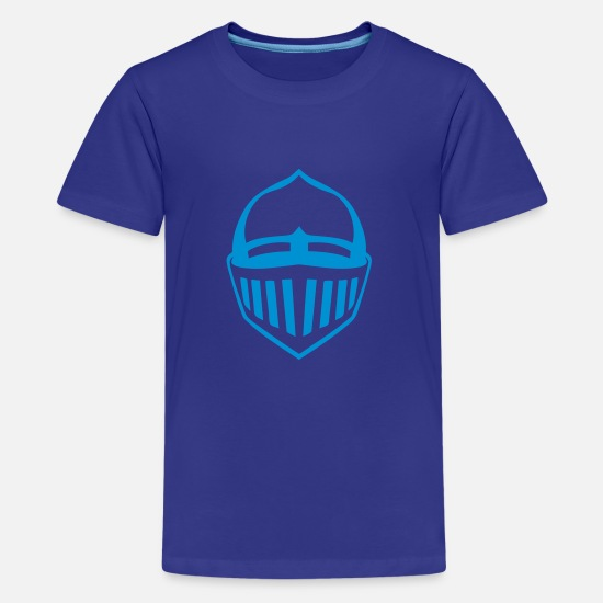 Medieval T-Shirts - medieval armor helmet 1 - Teenage Premium T-Shirt royal blue