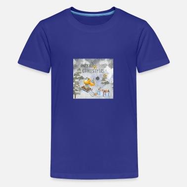Weihnachtsgrüße Teenager.Weihnachtsgrüße Eule Im Schneegestöber Kinder Premium T Shirt