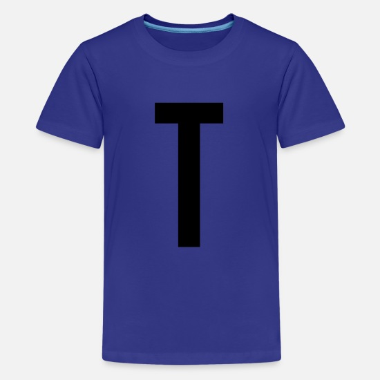 Birthday T-Shirts - Letter T Name Gift Present Bachelor - Teenage Premium T-Shirt royal blue