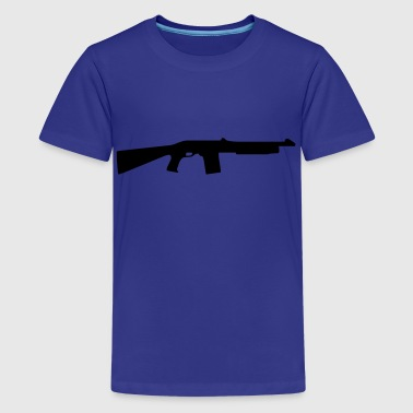 gun rifle - Camiseta premium adolescente