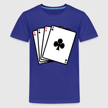 poker cards - T-shirt Premium Ado