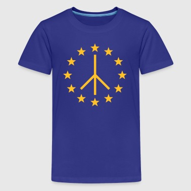 Europa Peace Sign, European Union, Movement - Teenage Premium T-Shirt