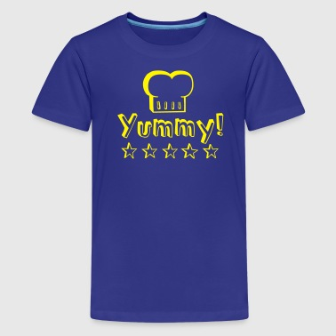 Yummy food tastes good! - Camiseta premium adolescente