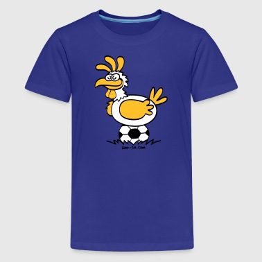 Laying Football Balls - Teenage Premium T-Shirt
