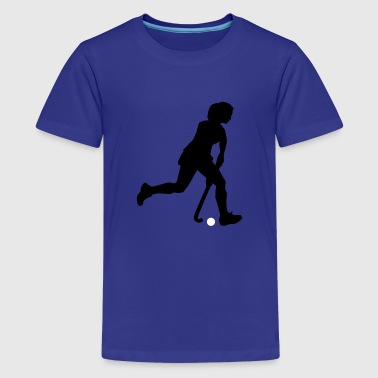 hockey_woman_2c - Teenager Premium T-shirt