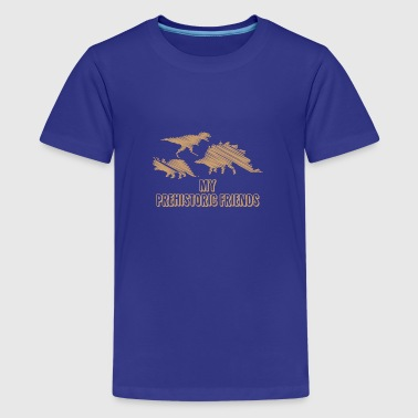My Prehistoric Friends - Dinosaurs - Teenage Premium T-Shirt