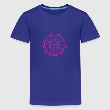 Mandala roze door Mila - Teenager Premium T-shirt