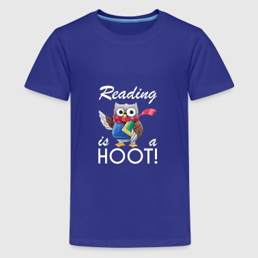 Cool Owl Reading is a hoot gifts for kid,librarian - Teenage Premium T-Shirt