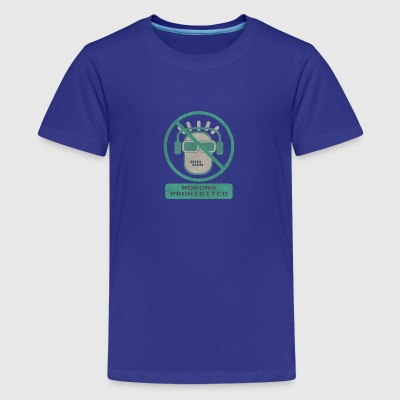 Blue moron prohibited - Premium-T-shirt tonåring