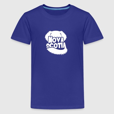 Nova Scotia Silhouette - Teenage Premium T-Shirt