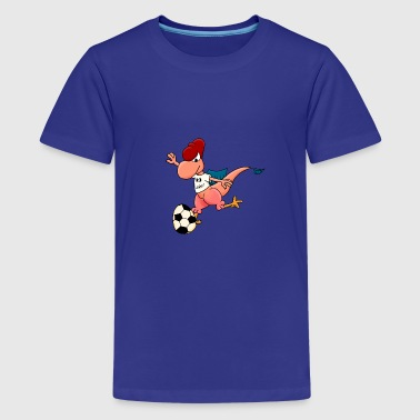 Hudino Fussball Rot - Teenager Premium T-Shirt