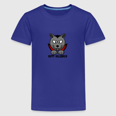 Count Catula Paws Halloween - Teenage Premium T-Shirt