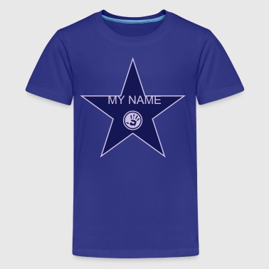 walk of fame + your name - Premium-T-shirt tonåring