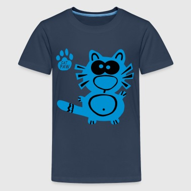 Catpaw Design Katt Katter Fun Humor Sweden Party - Premium-T-shirt tonåring