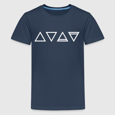 Elements, symbols, triangle, magic, occult Hermetics - Teenage Premium T-Shirt