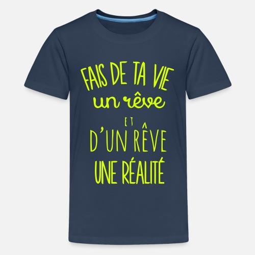 Citation Bonheur T Shirt Premium Ado Spreadshirt