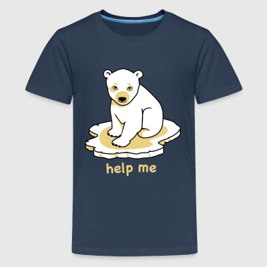 Eisbär, polar bear - Teenager Premium T-Shirt